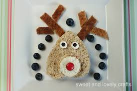 sweet and lovely crafts rudolph sandwich