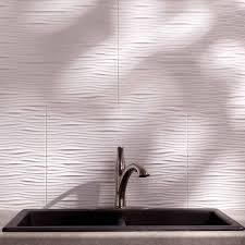 fasade backsplash waves in gloss white