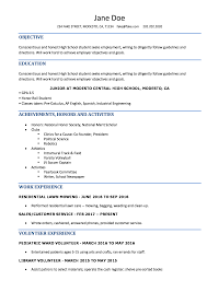 the resume template high school resume resumes for high school students