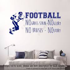 football no grass stain no glory sports quote decals vinyl football no grass stain no glory sports quote decals vinyl wall art stickers