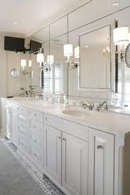 Bathroom Wall Sconce Lighting Modernroom Wall Sconces With Large Frameless Mirror Above
