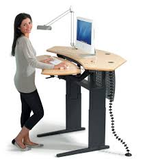 Upright Computer Desk Space And Style Management In Your Office With Standing Computer