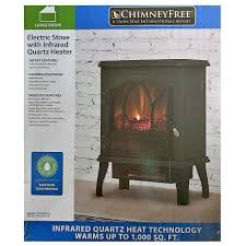 Electric Space Heater Fireplace by Chimney Free Electric Infrared Quartz Stove Space Heater Flame