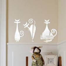diy cat furniture promotion shop for promotional diy cat furniture removable three cats mirror wall stickers decal art ps home room decoration diy