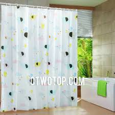 cute beautiful kids pink and baby blue elephant shower curtains