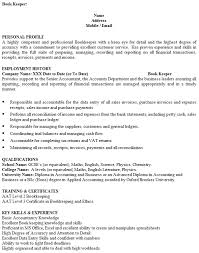 bookkeeper cv example u2013 cover letters and cv examples