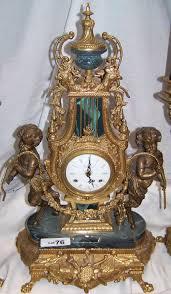 Mantle Piece Clock 3 Piece Rococo Style Mantle Clock