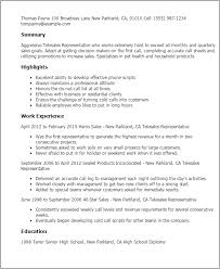 Honors And Activities For Resume Professional Telesales Representative Templates To Showcase Your