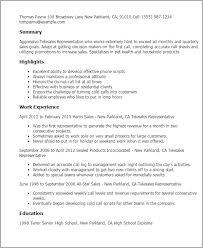 Sample Of Sales Representative Resume by Professional Telesales Representative Templates To Showcase Your