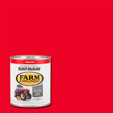 rust oleum 1 qt farm and implement ford red paint case of 2