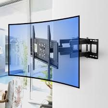 Led Tv Wall Mount Cabinet Designs Cr1 Curved Tv Wall Mount For 32 U201d 65 U201d U2013 Fleximounts