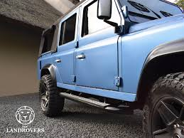 land rover convertible 4 door blue marlin the landrovers