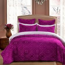Fuschia Bedding Fern Crystal Luxury Fuchsia Quilt Calla Angel