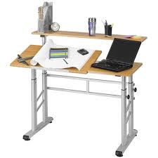 Desktop Drafting Table Adjustable Split Level Drafting Table W Wood Top Safco