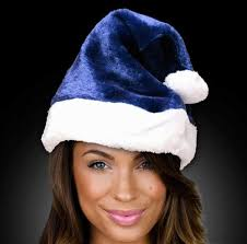 blue santa hat navy blue santa hat blank
