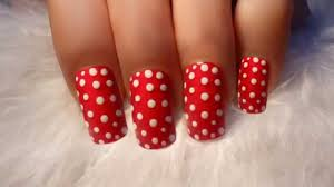 red polka dot nail art youtube