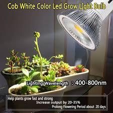 Indoor Plant Light by 10w Cob Led Grow Light Bulb Full Spectrum White Lamp For Indoor