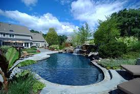 Backyard Pool With Slide - pool u0026 landscaping testimonials cipriano landscape design bergen nj