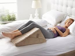sit up in bed pillow bed wedge pillow supports comfortable position when reading or