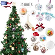 5 8cm 10 balls diy clear fillable plastic baubles