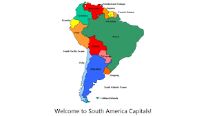 south america map with country names and capitals best photos of south america map with capitals south america and