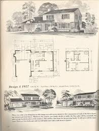 vintage house plans 1957 antique alter ego