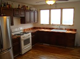 Copper Floor L Kitchen Traditional White Kitchen With Wooden Floor Feature L