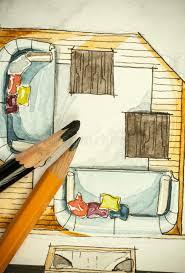 pittura sala da pranzo pittura a mano libera di schizzo dell inchiostro nero e dell