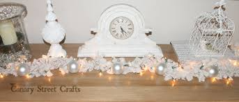 diy shabby chic christmas garland canary street crafts