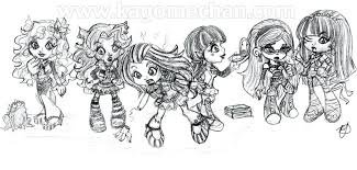 Monster High Babies Coloring Pages Monster High Group Heart Link Coloring Pages For High