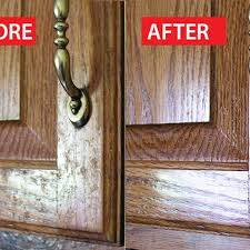 best thing to clean grease kitchen cabinets how to clean grease from kitchen cabinet doors hunker