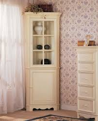 Tall Corner Display Cabinet Country Style Tall Corner Display Cabinet