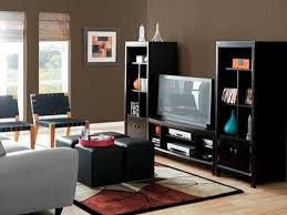 living room paint color ideas with brown furniture interior design