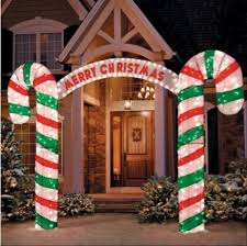 Large Metal Christmas Decorations by X Large 10ft Lighted Candy Cane Arch Light Stake Christmas Holiday