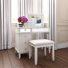 White Vanity Table With Drawers Lighted Makeup Vanity Sets Wayfair