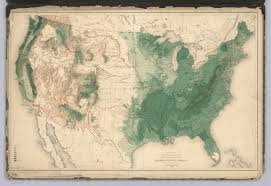 Map Of American States History Of American Forests Tree Maps Made For 1884 Census