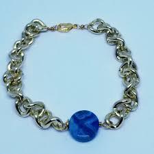 simple chain bracelet images Blue crazy lace agate simple chain bracelet peerless charm jpeg