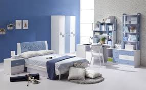 Bedroom  Incredible Master Bedroom Decor Using Striped Blue Bed - Blue and white bedroom designs