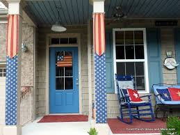 flag burlap banners for porch columns hometalk