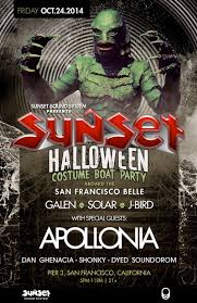 ra sunset sound system halloween costume boat party after party