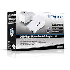 powerline 200 av adapter kit trendnet tpl 303e2k