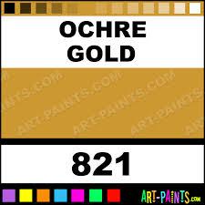 ochre gold full colour casein milk paints 821 ochre gold paint