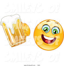 beer cheers cartoon vector clipart of ahappy smiley cheering with beer by yayayoyo 1840
