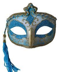 bulk masquerade masks tasseled mardi gras mask blue