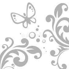 grey pattern and butterfly stock vector illustration of