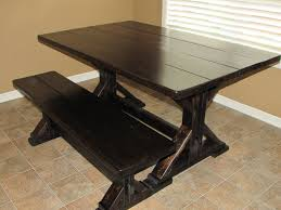 farm tables with benches custom trestle dining farm table and bench just fine tables