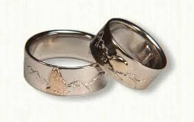 wedding ring designs custom mountain range wedding bands affordable unique gold ring
