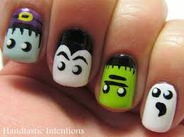 handtastic intentions nail art halloween monster nails