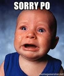 Sorry Po Meme - sorry po crying baby meme generator
