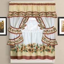 Sunflower Curtains Kitchen by Sunflower Kitchen Curtains Valances U0026 Kitchen Curtains Wayfair